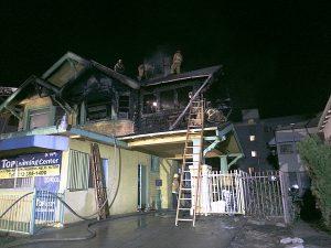 Residential fire in LA